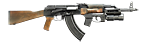 AKM 1959 with under barrel grenade launcher
