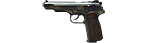 Stechkin APS Pistol, M1951 decorated with ornament