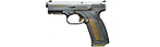 Caracal F pistol M2006, damask steel, gold