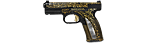 Caracal F pistol M2006 with gold ornament