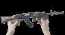 АКМ с ГП-30 и ПБС миниатюрная модель в руке