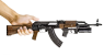 AKM 1959 miniature model with under barrel grenade launcher in hand