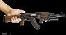 AKM 1959 miniature model with under barrel grenade launcher in hand