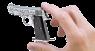 Пистолет Беретта 1934 миниатюрная модель в руке