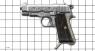 Пистолет Беретта 1934 миниатюрная модель на масштабной сетке