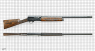 Browning Auto-5 Shotgun miniature model on scale grid