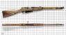 Magazine Carbine, M1907 miniature model on scale grid