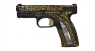 Caracal F pistol miniature model with gold ornament