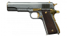 Colt М1911 А1 Pistol, damask steel, gold, miniature model