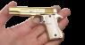 Кольт М 1911 A1 золотой миниатюрная модель в руке
