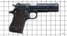 Colt М1911 А1 Pistol, decorated miniature model on scale grid
