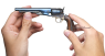 Colt Army Revolver with wood grip plates, M1860 in hand