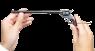 Colt Buntline Special Revolver, M1873 miniature model in hand