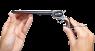 Colt Buntline Target Revolver, M1873 miniature model in hand