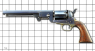 The First Model Colt Navy Revolver miniature model on scale grid
