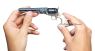 The Second Model Colt Navy Revolver miniature model in hand