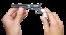 Кольт Navy 1861 миниатюрная модель в руке
