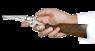 Кольт Navy 1861 с прикладом миниатюрная модель в руке