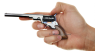 Colt Paterson Revolver, M1835 miniature model in hand