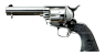 Colt Scout Revolver, short-barreled nickel-plated, M1873 miniature model