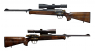 "Winchester R-93 Duo ""Hamed"" hunting rifle miniature model"