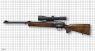 "Winchester R-93 Duo ""Hamed"" hunting rifle miniature model on scale grid"