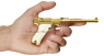 Artillery Luger Pistol, M1917 miniature model in hand