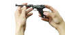 Artillery Luger Pistol, M1908 decorated miniature model in hand