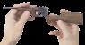 Маузер 1896 миниатюрная модель в руке