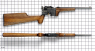 Mauser Pistol-Caliber Carbine miniature model on scale grid