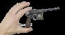 Маузер К-96 с орнаментом миниатюрная модель в руке