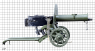 Maxim Heavy Machine Gun, M1910 miniature model on scale grid