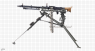 MG-34 Machine Gun, M1934 miniature model on scale grid