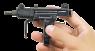 Пистолет-пулемет Узиэла Гала «Мини Узи» миниатюрная модель в руке