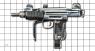 Пистолет-пулемет Узиэла Гала «Мини Узи» миниатюрная модель на масштабной сетке