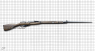 Mosin-Nagant Rifle 1891/1930 miniature model with a bayonet on scale grid