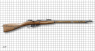Dragoon Mosin-Nagant Rifle, M1891 miniature model on scale grid