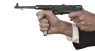 MP-38 Submachine Gun, M1938 miniature model in hand