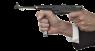Пистолет-пулемёт МП-38 миниатюрная модель в руке