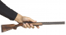 Perazzi MX-8 Double-Barreled Shotgun miniature model in hand