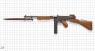 Пистолет-пулемет Томпсона военный миниатюрная модель на масштабной сетке