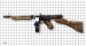 Пистолет-пулемет Томпсона 1928А1 с диском миниатюрная модель на масштабной сетке