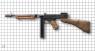 Пистолет-пулемет Томпсона 1928А1 с рожком миниатюрная модель на масштабной сетке