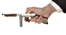 Navy  Thompson Submachine Gun, M1942 miniature model in hand