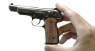 Stechkin APS Pistol, M1951 miniature model in hand