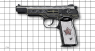 Stechkin APS Pistol, miniature model decorated with pink diamonds on scale grid