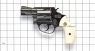 Smith & Wesson, model #10, M1957 miniature model on scale grid