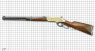Winchester Carbine, M1866 miniature model on scale grid