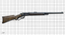 Winchester Carbine, M1892 decorated miniature model on scale grid