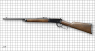 Winchester Carbine, M1892 miniature model on scale grid